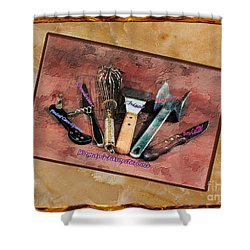 Women's Favorite Tools Shower Curtain by Shirley Mangini