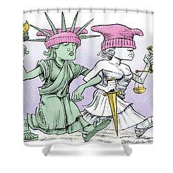 Women's March On Washington Shower Curtain