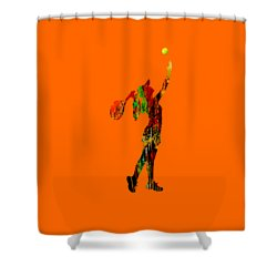 Womens Tennis Collection Shower Curtain by Marvin Blaine