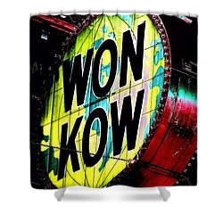 Shower Curtain featuring the photograph Won Kow, Wow 3 by Marianne Dow