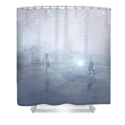 Wonder On A Starry Night Shower Curtain