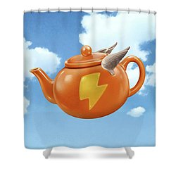 Wonder Teapot Shower Curtain
