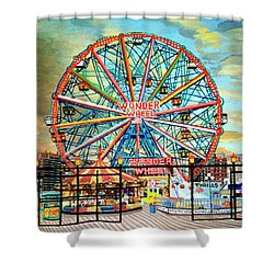 Wonder Wheel Shower Curtain