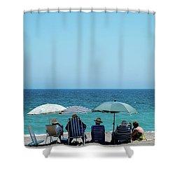 Wonderful Blue Day  Shower Curtain