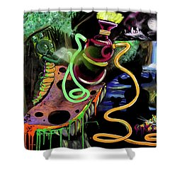 Shower Curtain featuring the painting Wonderland by eVol i