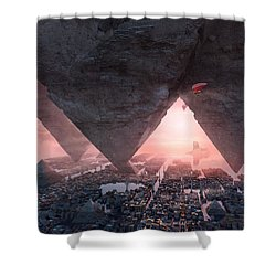 wonders great pyrimaid of Giza Shower Curtain