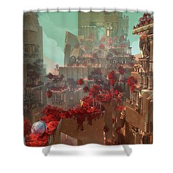 Wonders Hanging Garden Of Babylon Shower Curtain