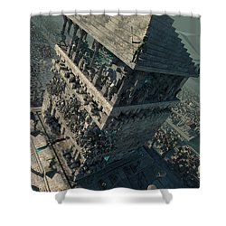wonders Mausoleum at Halicarnassus Shower Curtain
