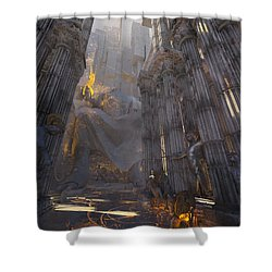 Wonders Temple Of Zeus Shower Curtain