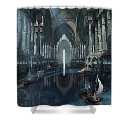 Wonders The Canal Of Isfahan Shower Curtain
