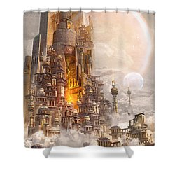 Wonders Tower Of Babylon Shower Curtain