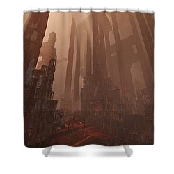 Wonders_temple Of Artmeis Shower Curtain