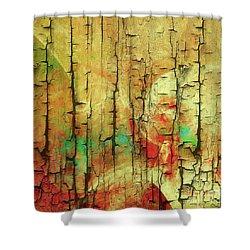 Shower Curtain featuring the digital art Wood Abstract by Deborah Benoit