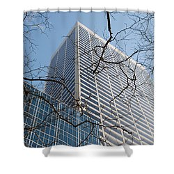 Shower Curtain featuring the photograph Wood And Glass by Rob Hans