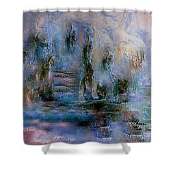 Wood Art  Lost In Time Shower Curtain