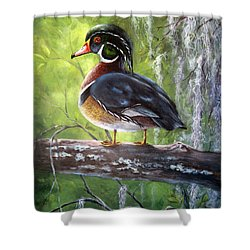 Wood Duck Shower Curtain