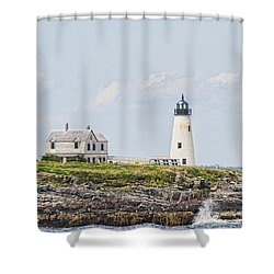 Wood Island Light Shower Curtain