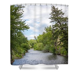 Wood River Crossing Shower Curtain