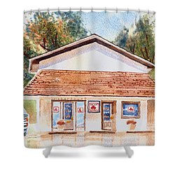 Woodcock Insurance In Watercolor  W406 Shower Curtain