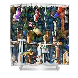 Woodcraft Giftshop In Montour Falls Shower Curtain