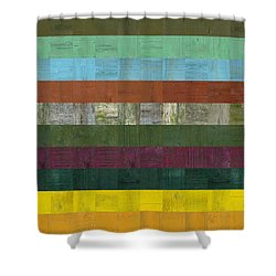 Wooden Abstract Lll Shower Curtain