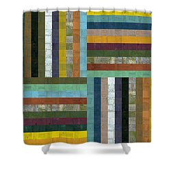 Wooden Abstract V  Shower Curtain