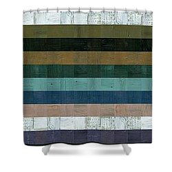 Wooden Abstract Xl Shower Curtain by Michelle Calkins
