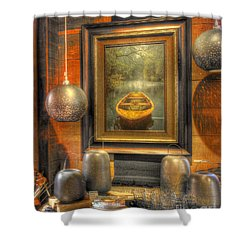 Wooden Art Shower Curtain