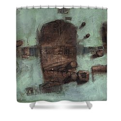 Symbol Mask Painting - 05 Shower Curtain