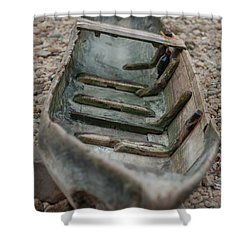 Wooden Boat1 Shower Curtain