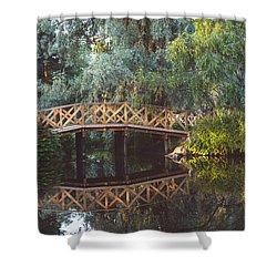 Shower Curtain featuring the photograph Wooden Bridge by Ari Salmela