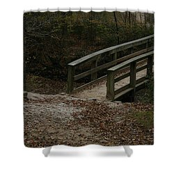 Shower Curtain featuring the photograph Wooden Bridge by Kim Henderson