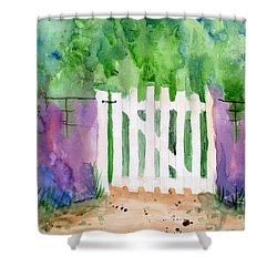 Wooden Gate Shower Curtain