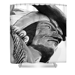 Wooden Indian Shower Curtain by Bob Pardue