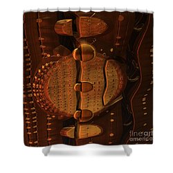 Wooden Lock Shower Curtain by Michelle H