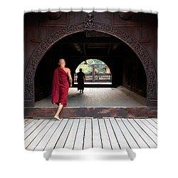 Wooden Monastery Shower Curtain
