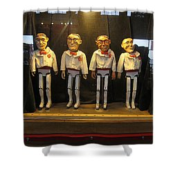 Shower Curtain featuring the photograph Wooden Rat Pack by John King