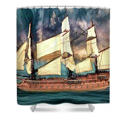 Wooden Ship Shower Curtain