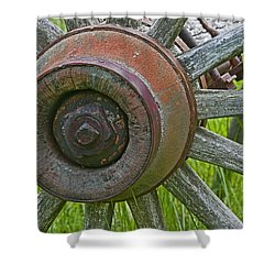 Wooden Spokes Shower Curtain
