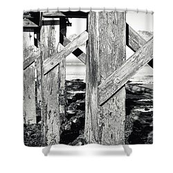 Wooden Walkway Shower Curtain
