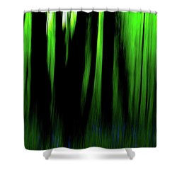 Woodland Abstract Iv Shower Curtain
