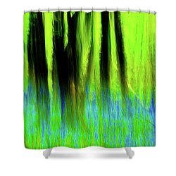 Woodland Abstract Vi Shower Curtain