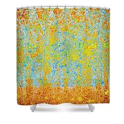Shower Curtain featuring the digital art Woodland Dreams-no1 by Darla Wood