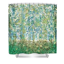 Shower Curtain featuring the digital art Woodland Dreams-no2 by Darla Wood