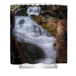 Shower Curtain featuring the photograph Woodland Falls 2017 by Bill Wakeley