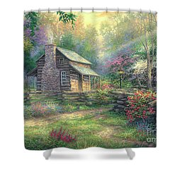Woodland Oasis Shower Curtain