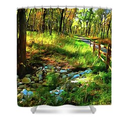 Woodland Symphony Shower Curtain by Cedric Hampton