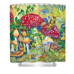 Woodland Visitors Shower Curtain