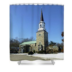 Woodlawn Cemetery Chapel Shower Curtain
