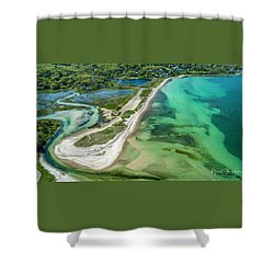 Woodneck Beach Shower Curtain